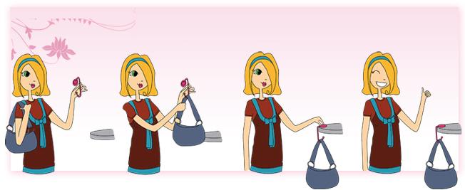 mode d'emploi accroche-sac